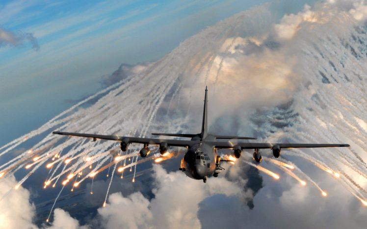 aircraft, Gunships, Lockheed C 130 Hercules HD Wallpaper Desktop Background