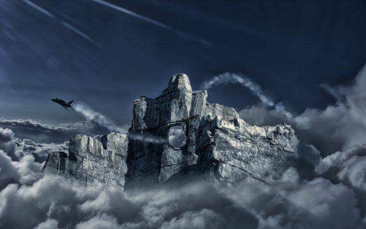 jet fighter, Aircraft, Airplane, Flight, Mountain HD Wallpaper Desktop Background