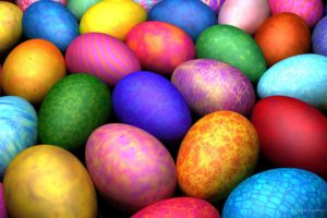 colorful, Eggs, Easter
