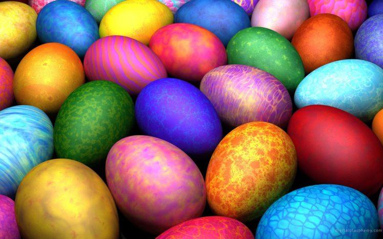 colorful, Eggs, Easter HD Wallpaper Desktop Background