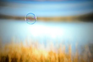 blurred, Bubbles, Floating