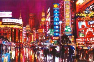 painting, City, Shanghai