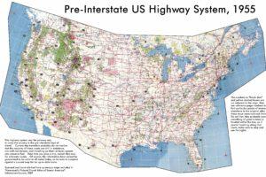 map, USA, Highway