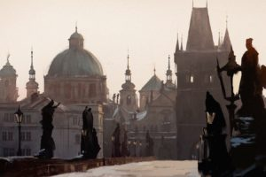 Prague, Darek Zabrocki, Snow, Czech Republic, Bridge, Cathedral