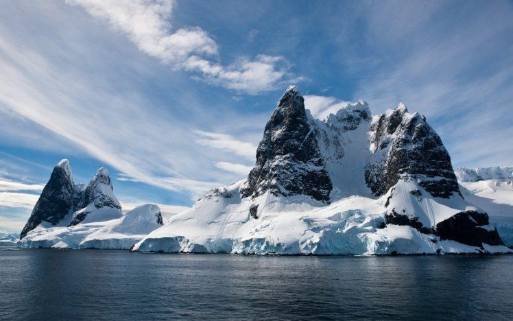 mountain, Ice, Water, Snow HD Wallpaper Desktop Background