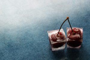 cherries, Ice cubes