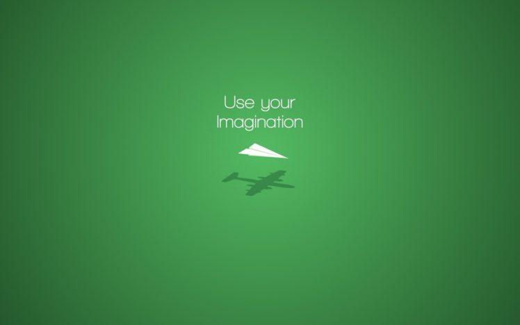 imagination, Motivational, Minimalism, Paper planes HD Wallpaper Desktop Background