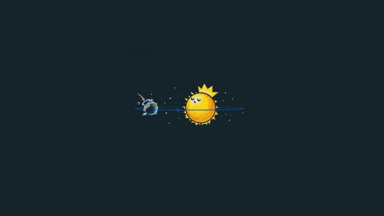 minimalism, Sun HD Wallpaper Desktop Background