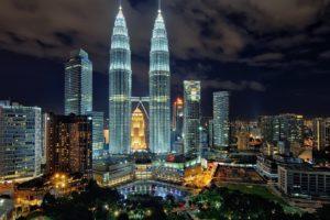cityscape, Petronas Towers, Kuala Lumpur, Malaysia