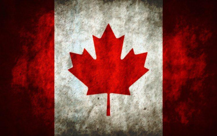 Canada, Canadian flag, Red, Flag HD Wallpaper Desktop Background