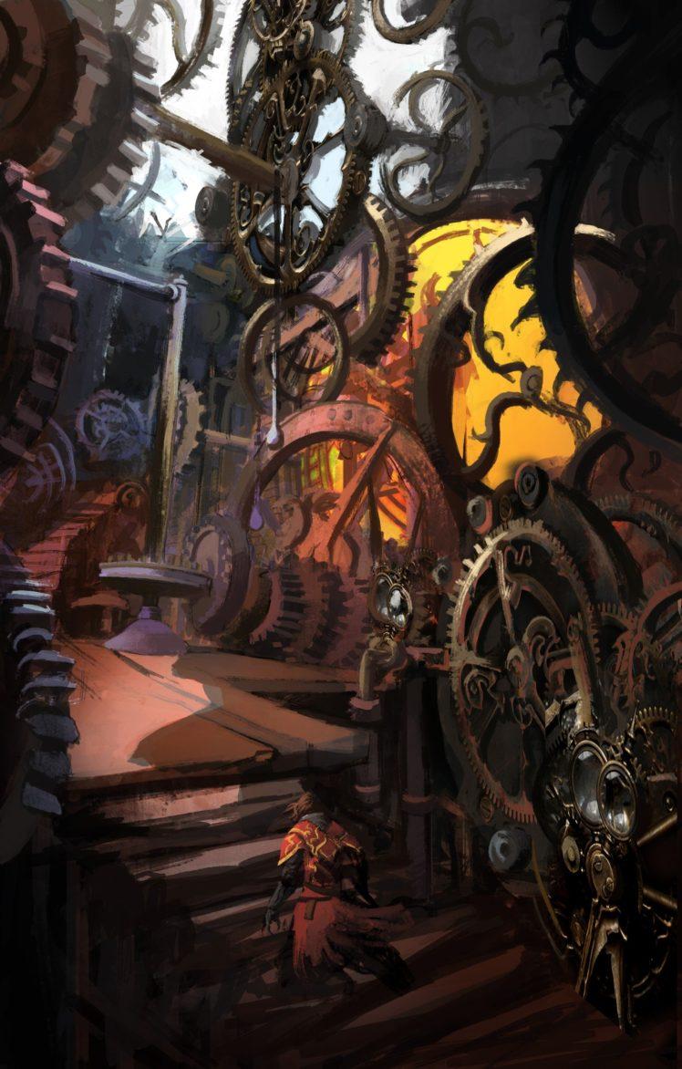 Castlevania: Lords of Shadow, Concept art, Gears, Clocktowers HD Wallpaper Desktop Background