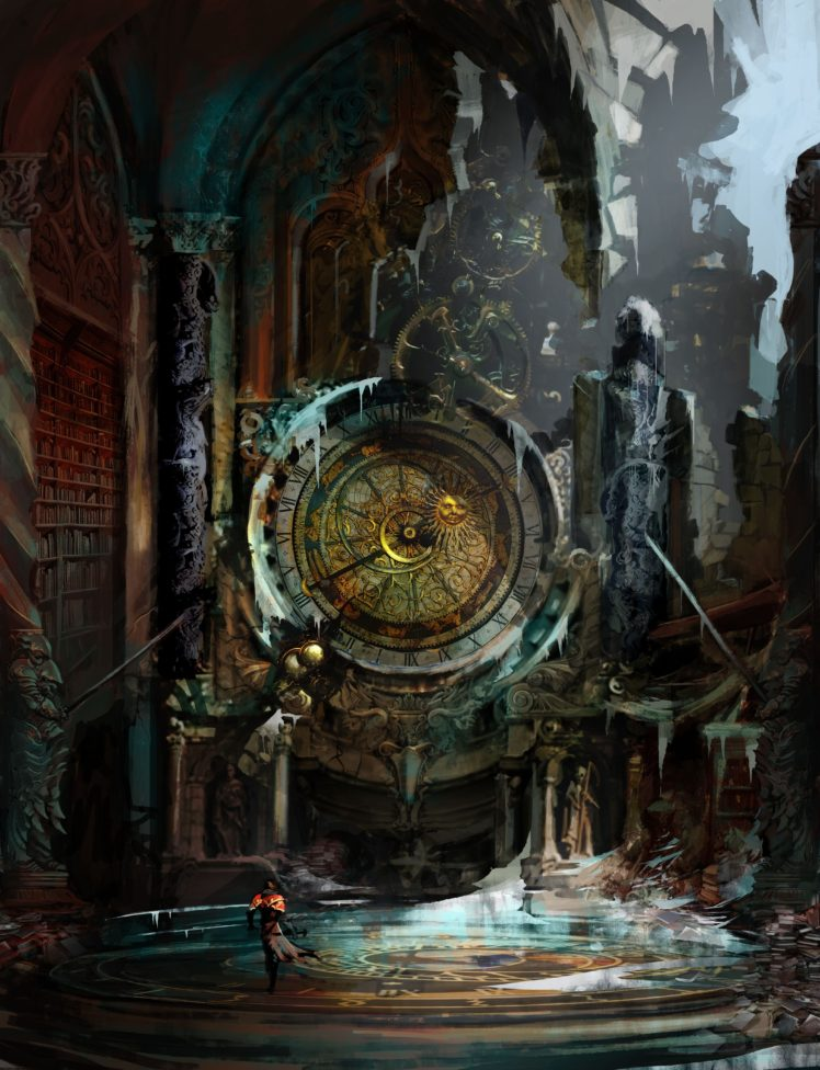 Castlevania: Lords of Shadow, Clocks HD Wallpaper Desktop Background