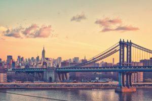 city, Water, Bridge, Manhattan Bridge, New York City