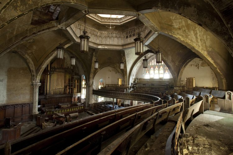 Indoors Abandoned Urban Exploration Church Building
