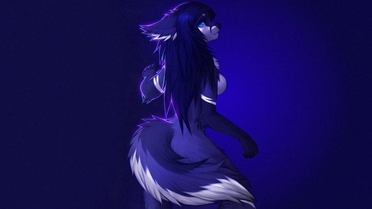 furry, Blue, Falvie HD Wallpaper Desktop Background
