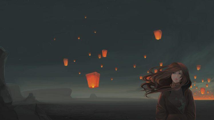 Amazing Wallpaper Night Lantern - 159284-sky_lanterns-windy-original_characters-night-748x421  Trends-117961.jpg