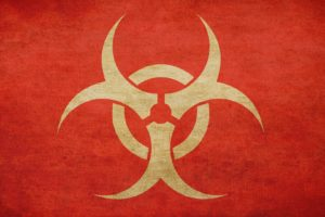 minimalism, Simple background, Biohazard