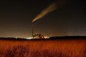 night, Field, Industrial