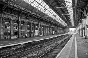 railway, Architecture, Old building, Train station