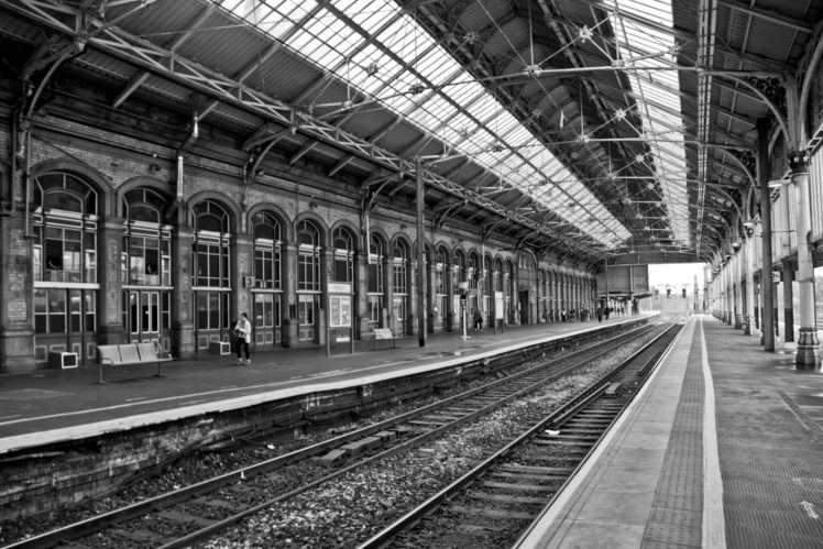 Railway Architecture Old Building Train Station Hd