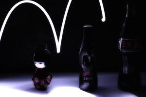 light painting, Coca Cola
