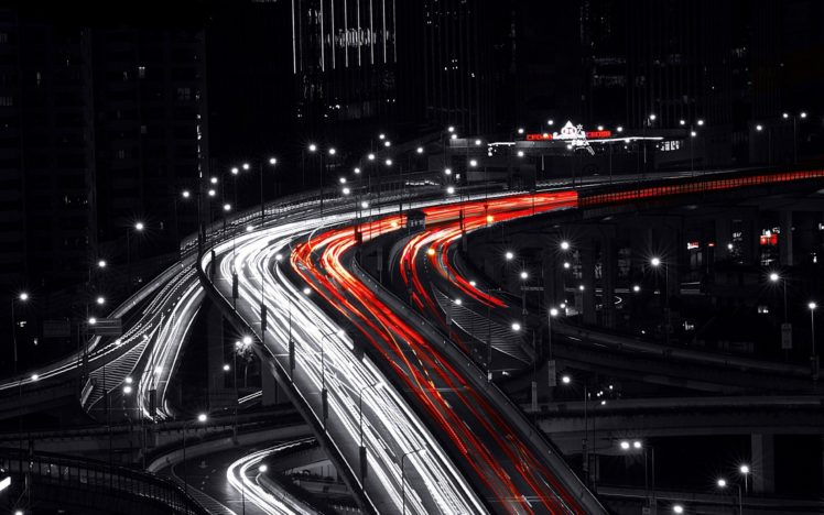 Black Red White Long Exposure Hd Wallpapers Desktop And