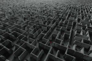 maze, Black