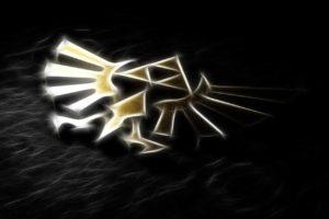 black, Gold, The Legend of Zelda, Fractalius