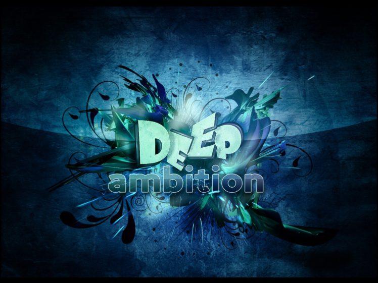 ambition, Black, Blue HD Wallpaper Desktop Background