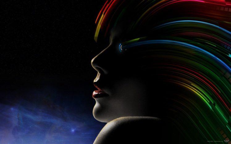 colorful, Face HD Wallpaper Desktop Background