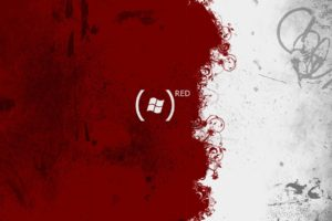 red, White, Microsoft Windows, Paint splatter