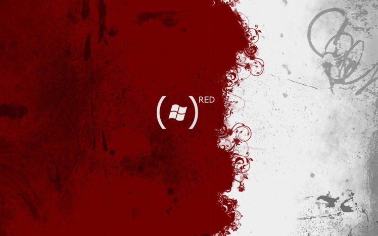 red, White, Microsoft Windows, Paint splatter HD Wallpaper Desktop Background