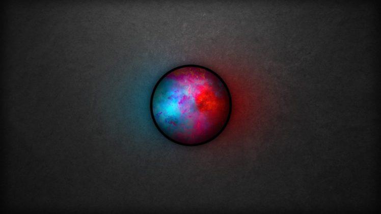 blue, Circle, Contrast, Minimalism HD Wallpaper Desktop Background
