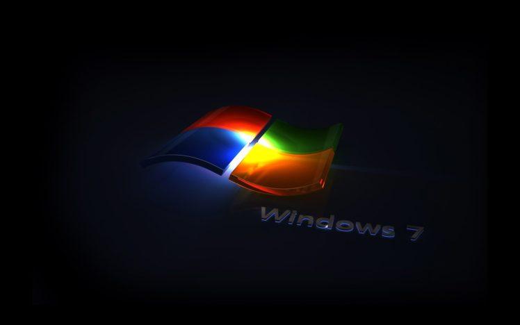 Windows 7, Microsoft Windows, Logo, Simple background HD Wallpaper Desktop Background