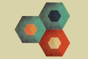 low poly, Hexagon