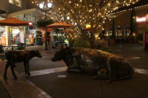 Seattle, Night, Sculpture, Lights