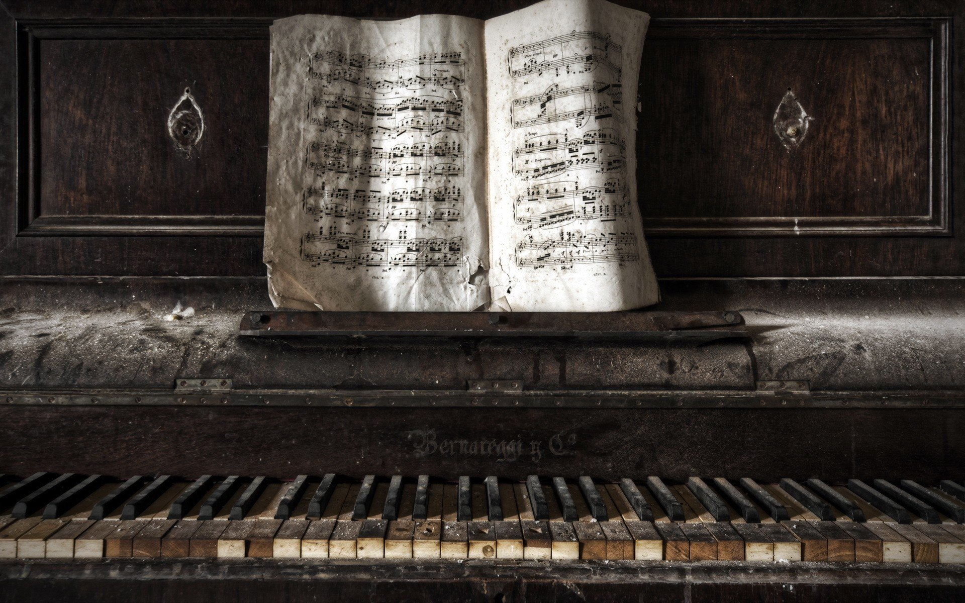 Piano Old Paper Abandoned Hd Wallpapers Desktop And Mobile Images Photos