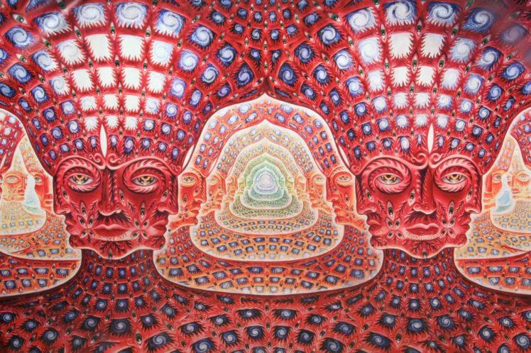 psychedelic, Alex Grey HD Wallpaper Desktop Background