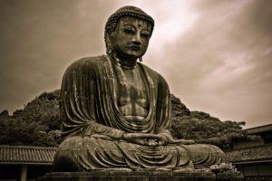 Buddha, Sepia, Statue, Architecture