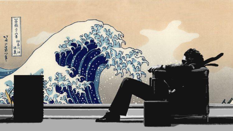 Hitachi Maxell The Great Wave Off Kanagawa Hd Wallpapers