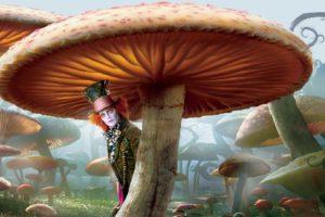 Alice in Wonderland, Mushroom, Mad Hatter, Johnny Depp
