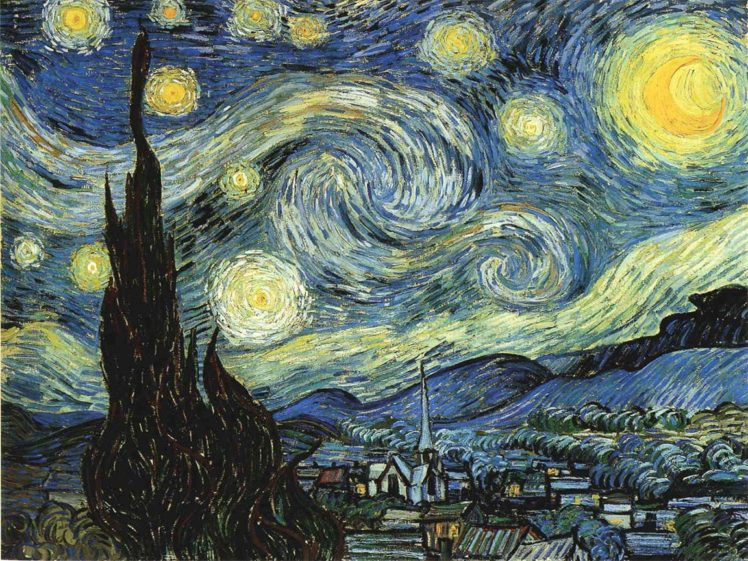 Vincent Van Gogh Painting The Starry Night Classic Art Hd