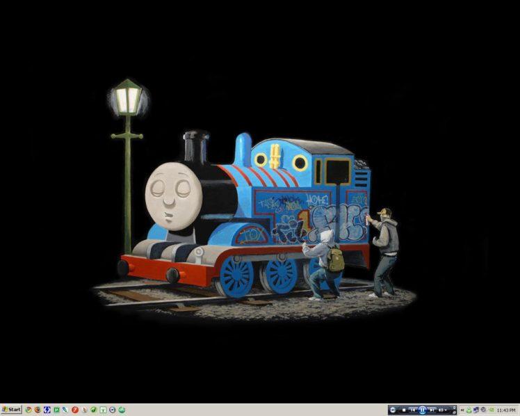 Thomas The Tank Engine Graffiti HD Wallpaper Desktop Background