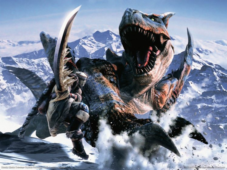 creature, Dinosaurs, Mountain, Monster Hunter HD Wallpaper Desktop Background