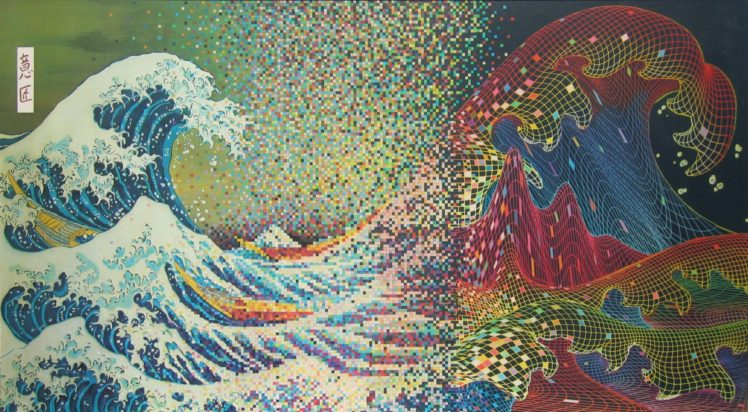 The Great Wave Off Kanagawa Pixel Art Wave Of The Future Hd Wallpapers Desktop And Mobile Images Photos