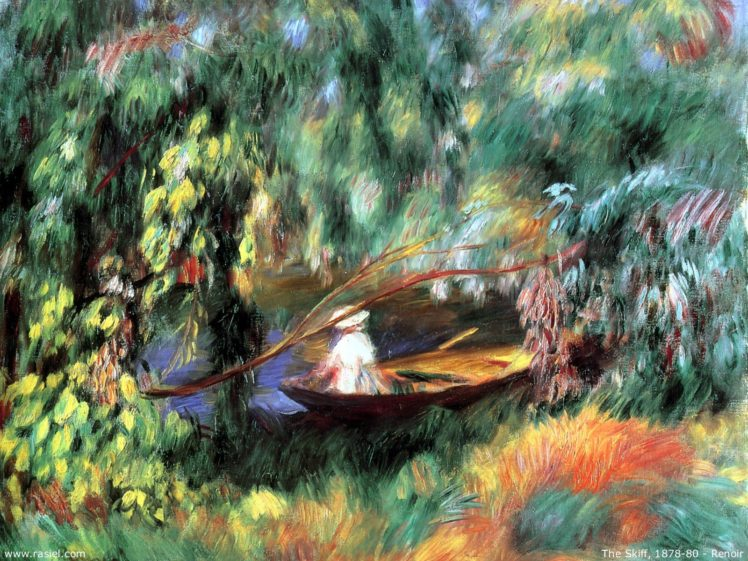 Painting Pierre Auguste Renoir Boat Classic Art Hd Wallpapers