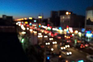 bokeh, Night, Light painting, Traffic