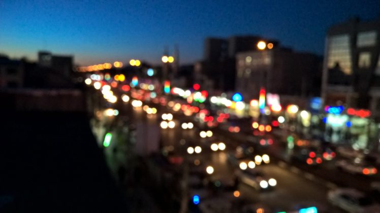 bokeh, Night, Light painting, Traffic HD Wallpaper Desktop Background