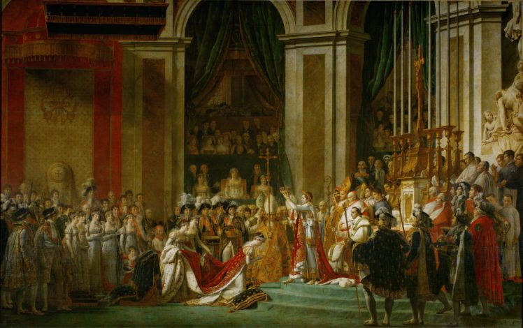 Jacques Louis David The Coronation Of Napoleon And Josephine