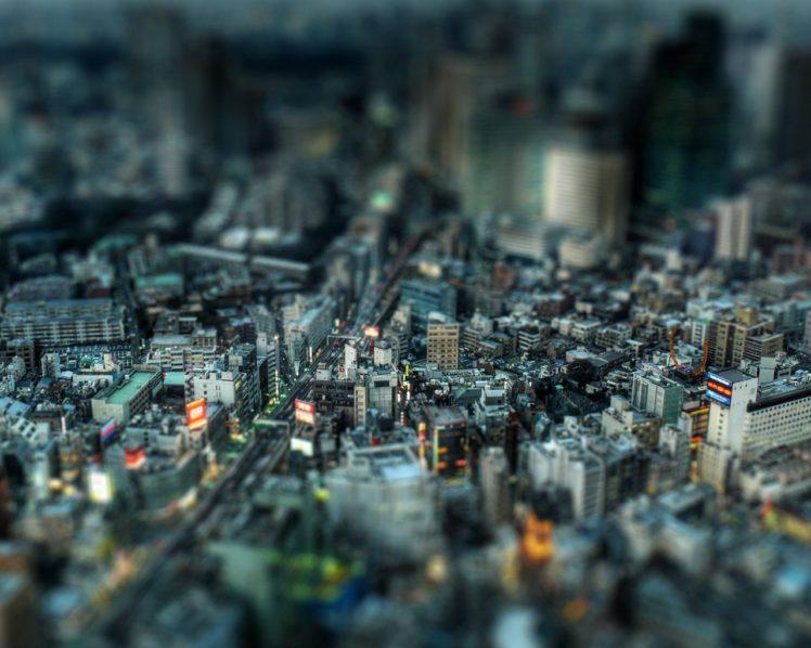 tilt shift, Cityscape, Japan HD Wallpaper Desktop Background
